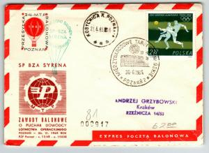 Poland 1965 Poznan Balloon Cover  - Z13732