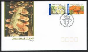 Christmas Is. Fungi Mushrooms 2v FDC SG#490-491