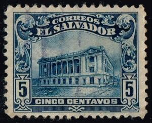 El Salvador #433 National Theater; Used (0.25)