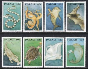Palau 335a-335h Marine Life Singles MNH VF