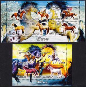 Malawi Horses 2 Sheetlets