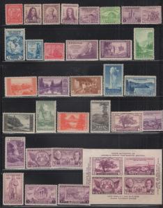 US 1933 - 7 Selection 44 Stamps MNH/MH