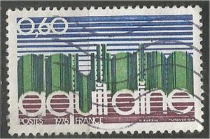 FRANCE, 1975 used 60c, Aquitaine, Scott 1441