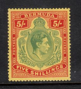 Bermuda #125 (SG #118) Very Fine Mint Lightly Hinged Variety Signed