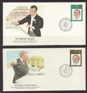 Great Britain 920-923 Music 1980 Fleetwood S/4 U/A FDC