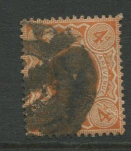 Great Britain  #150  Used 1911 Single 4p Stamp