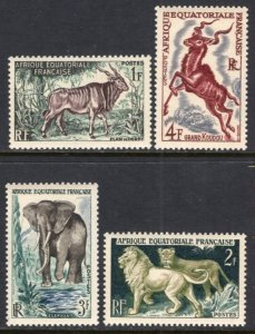 French Equatorial Africa 195-198 MNH VF