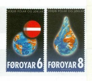 Faroe Islands. Complete Set 2 Stamp 2009 Mnh. Global Warming. 6 - 8 Kr.