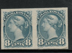 Canada #44d Very Fine Mint Full Original Gum Hinged Imperf Pair