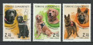 Turkey 2020 Animals, Pets, Dogs, 3 MNH stamps