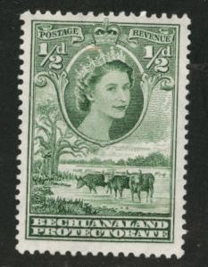 Bechuanaland Protectorate Scott 154 MH* QE2 1955