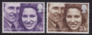 Great Britain #707-8 F-VF Mint NH ** Princess Anne Wedding