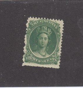 NOVA SCOTIA  # 11  VF-MNH  8 1/2cts 1860-63 QUEEN VICTORIA /GREEN CAT VALUE $30
