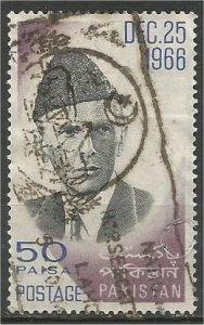 PAKISTAN, 1965,  used 50p, Jinnah. Scott 231