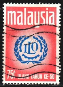 Malaysia. 1970. 72 of the series. The International Labour Organization. USED.