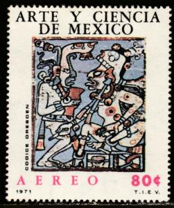 MEXICO C380, MAYAN DRAWINGS ART AND SCIENCE. MINT, NH. F-VF.