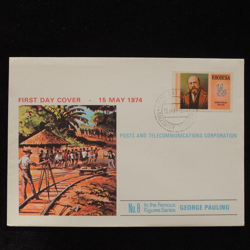 ZS-AC731 RHODESIA - Fdc, 1974 George Pauling, Famous People Cover