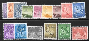 SEYCHELLES SG158/72 1952 DEFINITIVES MNH