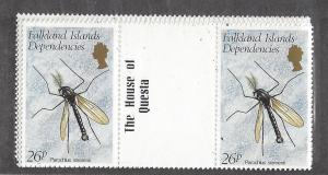Falkland Islands (Dep.),1L66-71, Insects G/P,**MNH**