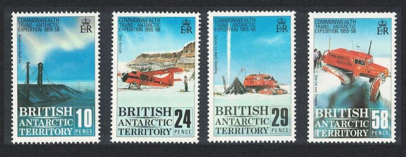 BAT 30th Anniversary of Commonwealth Trans-Antarctic Expedition 4v SG#163-166