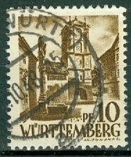 Germany - French Occupation - Wurttemberg - Scott 8N17