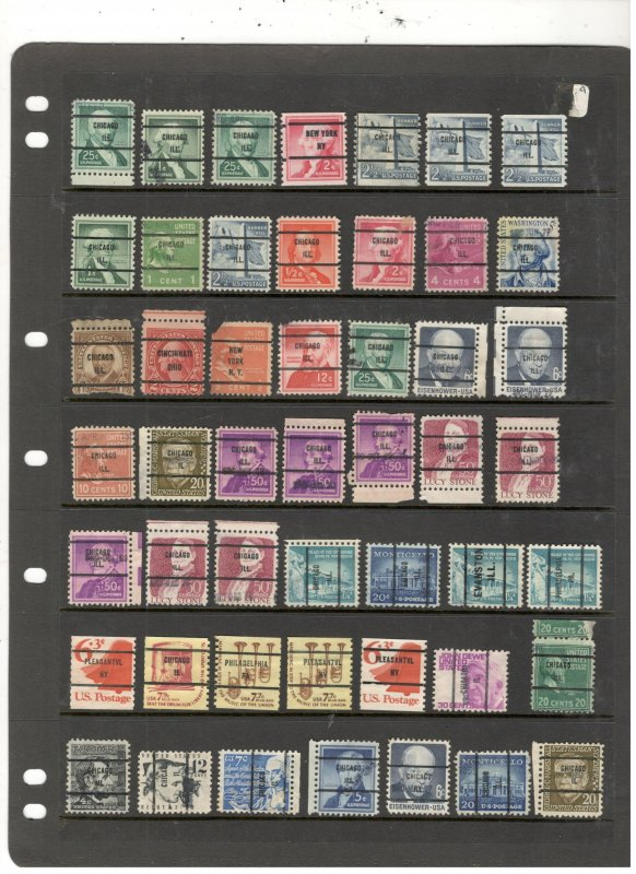 US PRE CANCEL COLLECTION ON STOCK SHEET