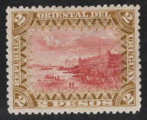 Uruguay Scott 127 Montevideo Fortress MH* stamp from 1895-99 set