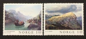 Norway 1974  #633-4, Paintings, Unused/MH.