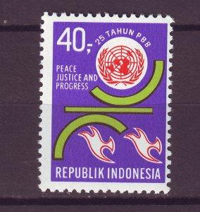 J25031 JLstamps 1970 indonesia set of 1 mnh #794 united nations un