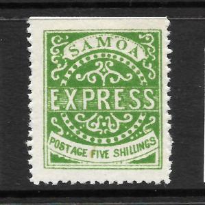 SAMOA  1877-80 5/-  GREEN   EXPRESS   MLH   SG 14