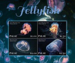 YEAR 2020-PALAU - JELLYFISH  4V complet set    MNH ** T
