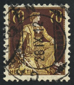 01885 Switzerland Scott #141 70c used, SCV = $27.50