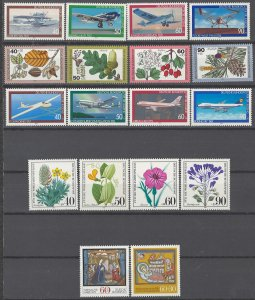COLLECTION LOT # 1976 GERMANY 18 MNH SEMI POSTAL STAMPS 1979+