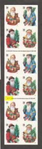 U.S. Scott #3540d Christmas - Face $7.40 - Mint NH Booklet Pane - Plate #S1111