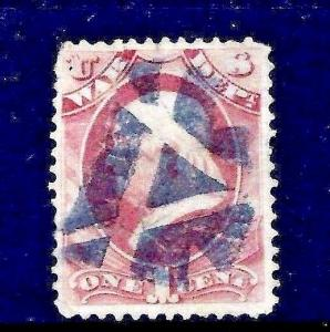 US Fancy  Cancel =  SON Negatively-Inscribed TRIANGLE <Not Listed in Cole*>