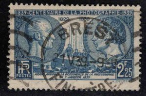 France Scott 374 Used Photography stamp 1939
