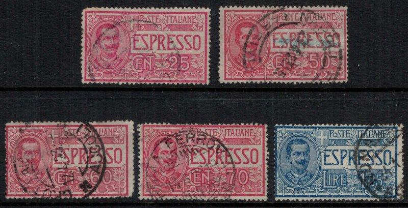 Italy #E1-5  CV $4.60