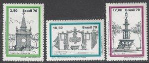 Brazil 1632-4 MNH Fountains 1979