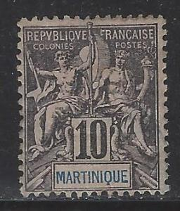 Martinique Scott # 38, mint hr