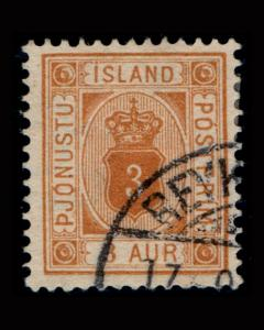 VINTAGE: ICELAND 1907 USD,MHR SCOTT # O10 $ 40 LOT # VSAICE1907A-B75