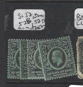 EAST AFRICA AND UGANDA  (P3105B)  KGV   75C  SG 52,A,B,D        MOG