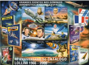 Sao Tome and Principe 2006 Gagarin/Kennedy/Laika/Trains/Halley Shlt(6) Imperf