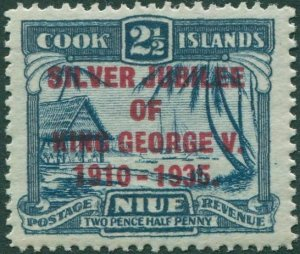 Niue 1935 SG70a 2½d Silver Jubilee narrow E MLH