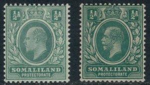 Somaliland Protectorate #27,51*  CV $3.15