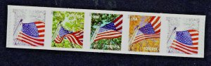4774 - 77 Flag for All Seasons  PLATE Strip  Pl #S1111 - MNH