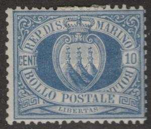 SAN MARINO MNG Scott # 7 - remnant, pencil # (1 Stamp)