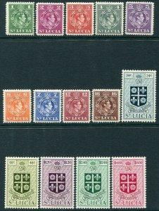ST LUCIA-1949-50 Set to $4.80 Sg 146-159 LIGHTLY MOUNTED MINT V35132