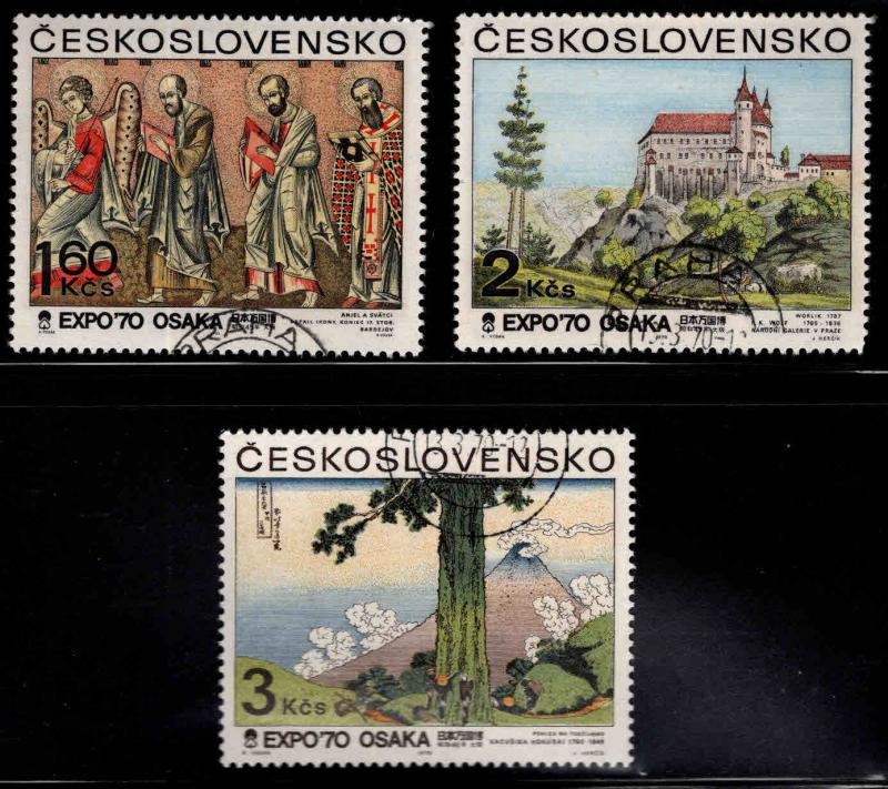 Czechoslovakia Scott 1677-1679 used  stamp
