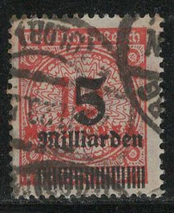 Germany Reich Scott # 313, used, exp h/s