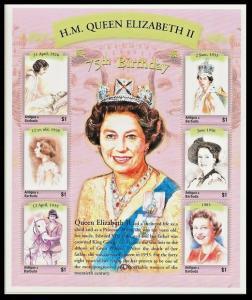 2001Antigua & Barbuda3518-23KL75 years of Queen Elizabeth II